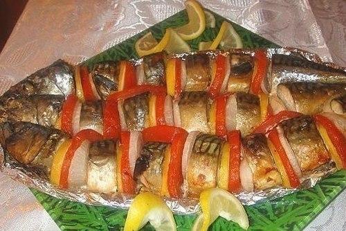 Скумбрия в соусе, запеченная в духовке - «Второе блюдо»