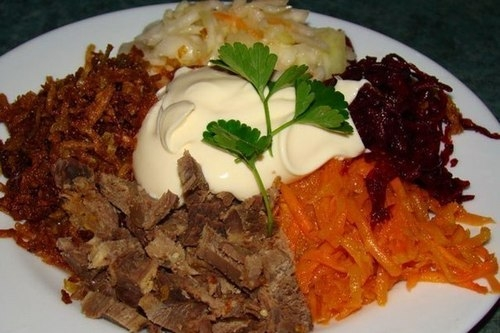 Классический «Дагестанский» салат - «Закуски»