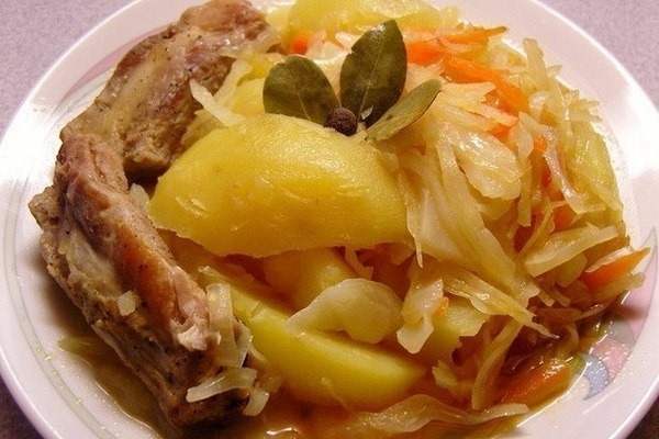 Овощное рагу с капустой и свининой - «Второе блюдо»