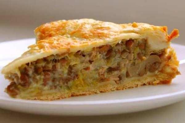 Пирог с картошкой и грибами по-домашнему - «Закуски»
