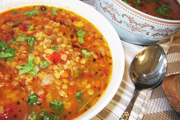 Турецкий чечевичный суп на курином бульоне - «Первое блюдо»