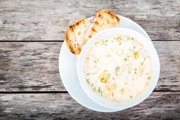 Рыбный суп из скумбрии с рисом - «Первое блюдо»
