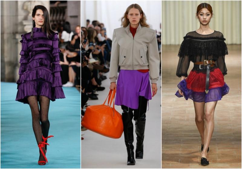 Фиолетовый с красным или оранжевым  - «Мода»