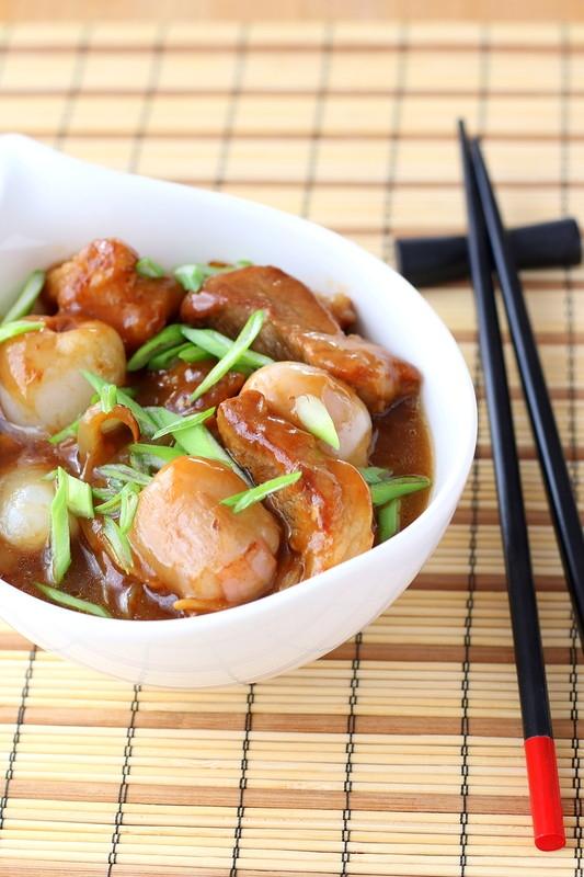 Свинина с личи по-азиатски - «Блюда из мяса»