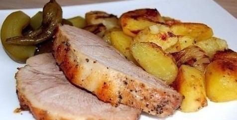 Запеченная буженина с картошкой по-крестьянски - «Блюда из мяса»