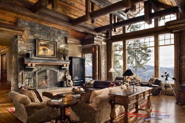 Дизайн интерьера: мебель и двери из дерева