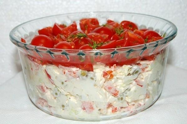 Салат «Красная шапочка» с пекинской капустой - «Закуски»