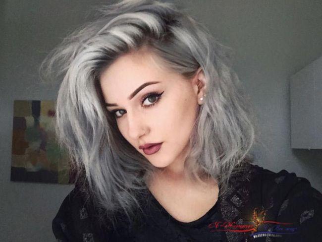 Волосы: в моду входит омбре в сером цвете