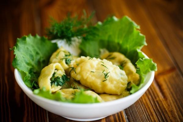 Вареники на пару с картофелем и зеленью - «Второе блюдо»