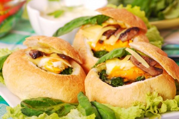 Фаршированные булочки с грибами и сыром - «Закуски»