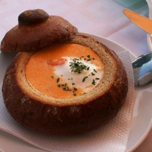Сырный суп в хлебе - «Первое блюдо»