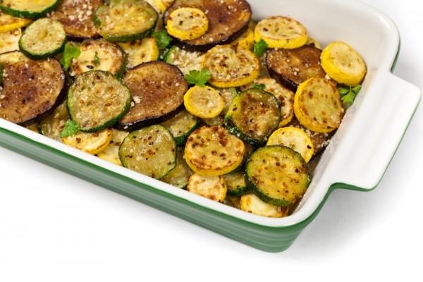 Запеченные баклажаны и кабачки с пармезаном - «Второе блюдо»
