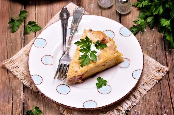 Запеканка из картофельного пюре с беконом и сыром - «Второе блюдо»