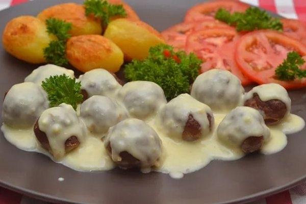 Шарики из говядины со сливочным соусом - «Второе блюдо»