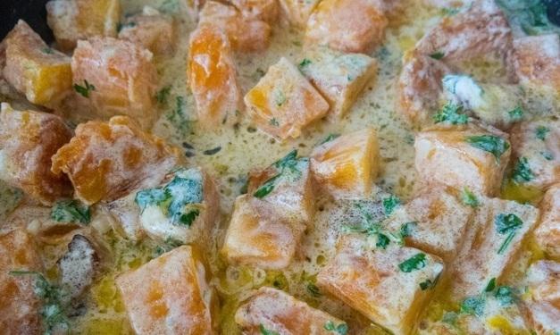 Тыква в сметанно-чесночном соусе - «Второе блюдо»