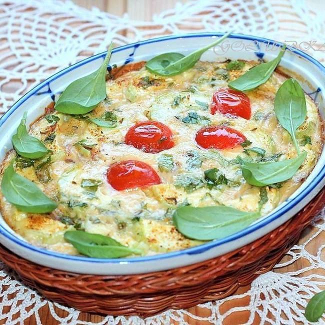 Кабачковая запеканка со сливочным сыром - «Второе блюдо»