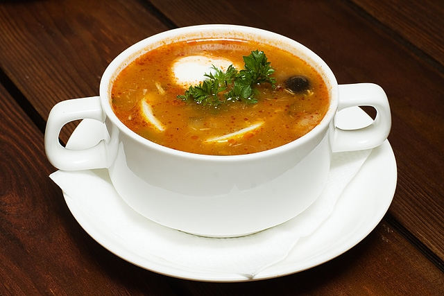 Солянка с грибами - «Первое блюдо»