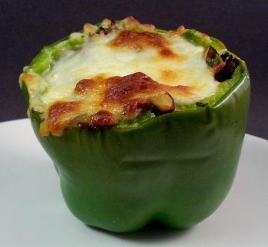 Сладкий перец, фаршированный грибами - «Второе блюдо»