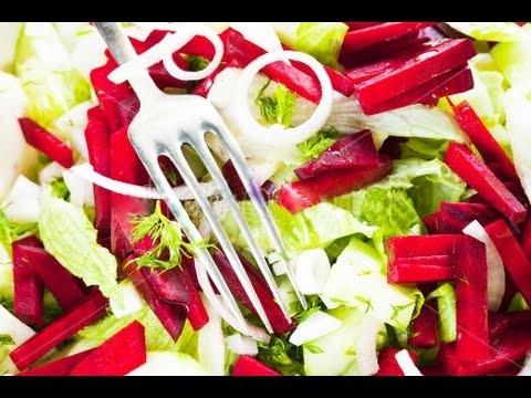Свекольный салат с финиками и орехами (ВИДЕО) - «Закуски»