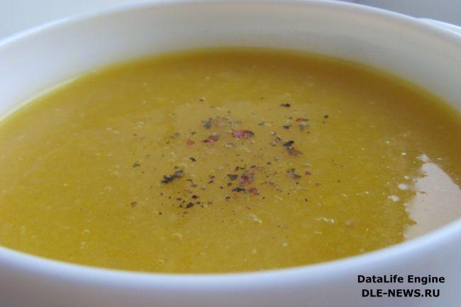 Согревающий крем-суп с имбирем и чесноком