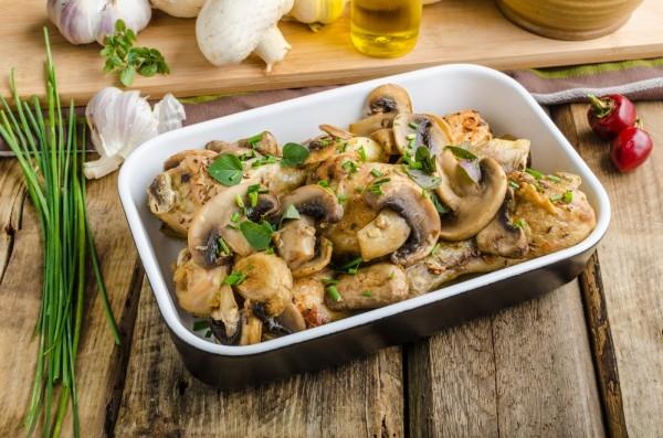 Запеченные куриные ножки с грибами - «Второе блюдо»