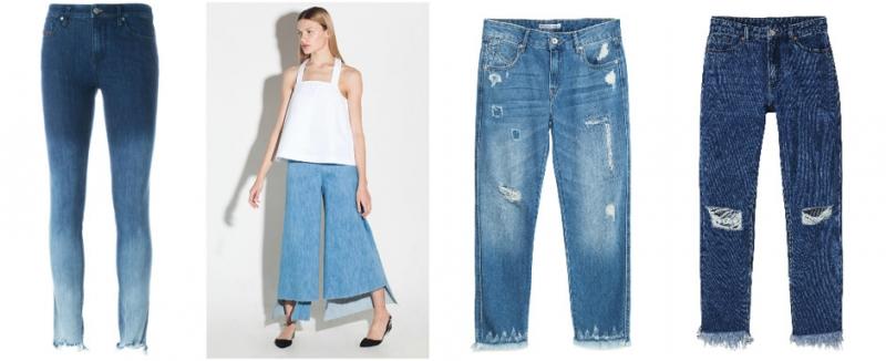 Как сделать бахрому по низу джинс