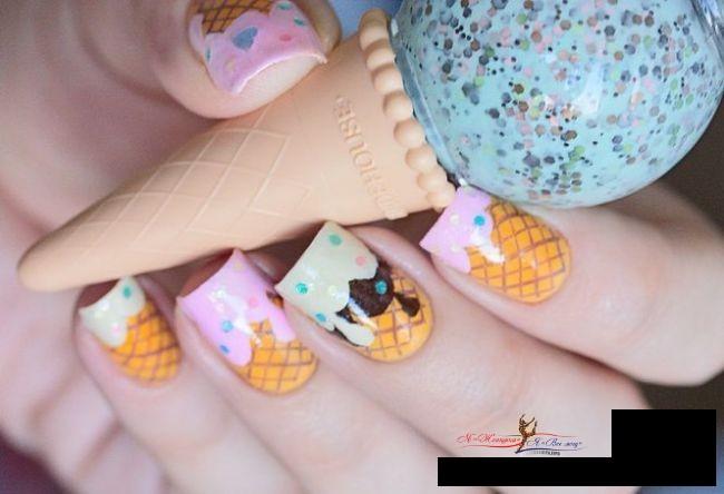 Лето 2016: ногти в виде десерта стали самыми модными