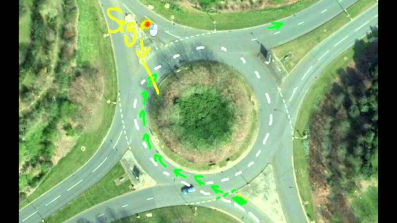 Which lane to exit a roundabout after turning right? Driving Lessons #14  - «Видео советы»