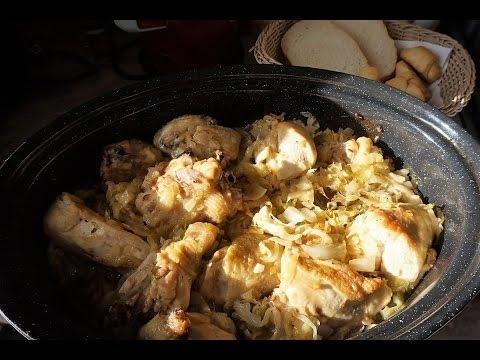 """Квашеная капуста с курицей в духовке """"Подварок"""" (ВИДЕО) - «Второе блюдо»"""