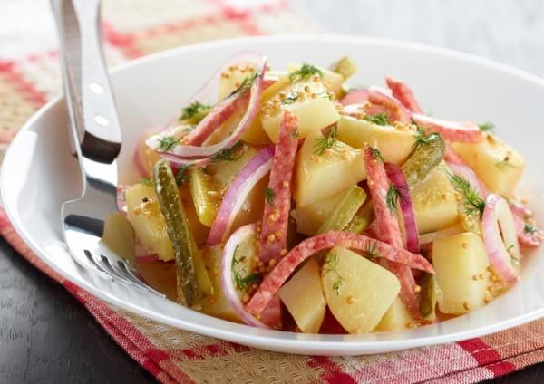 Картофельный салат «Сытый бюргер» - «Закуски»