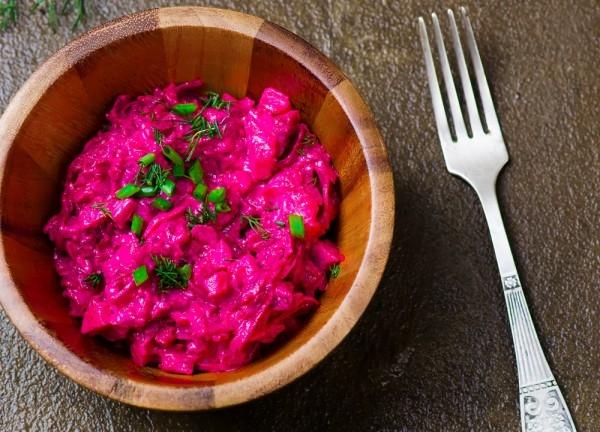 Шведский салат из свеклы и сельди - «Закуски»