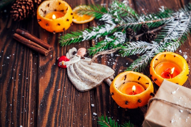 Как сделать свечу из апельсина - «Я и Дом»