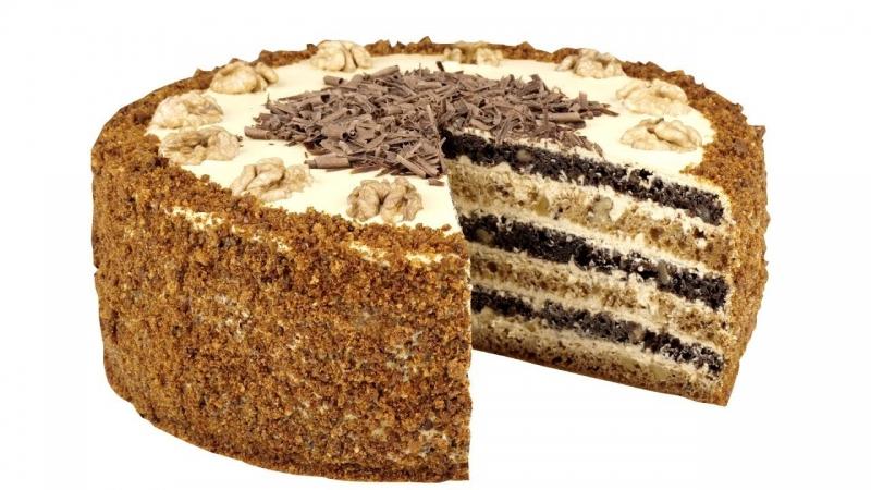 """Медовый торт """"Домашний"""" Без раскатывания коржей  - «Видео советы»"""
