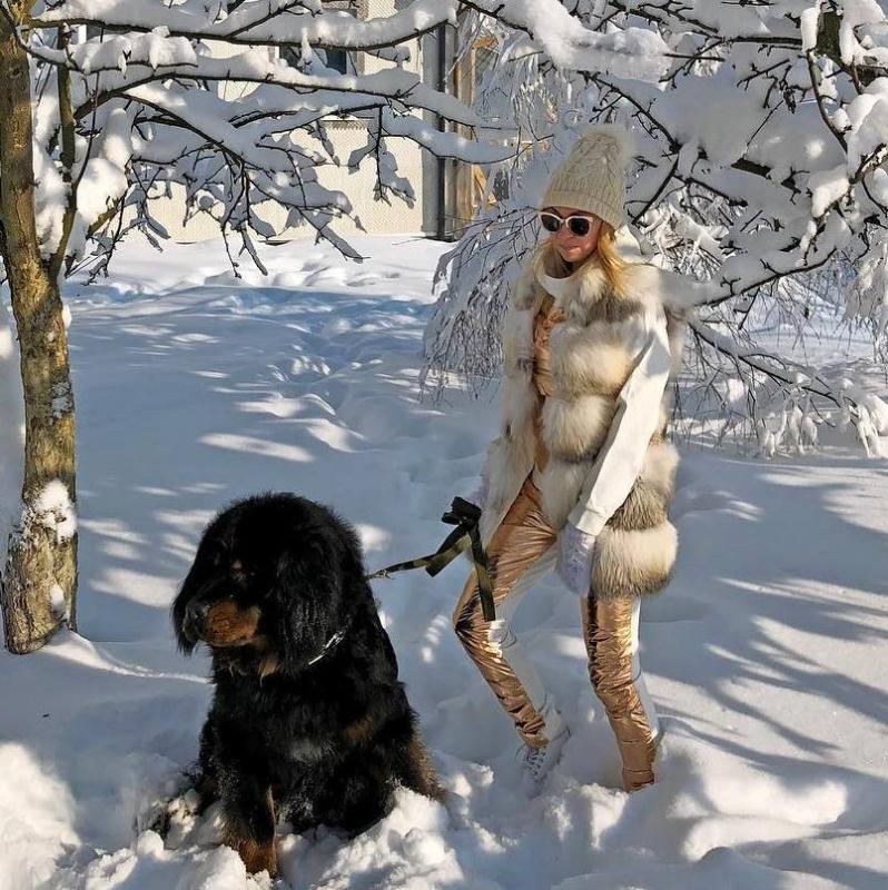 «Да это медведь!»: Яна Рудковская ошарашила поклонников собакой на поводке - «Я и Дом»