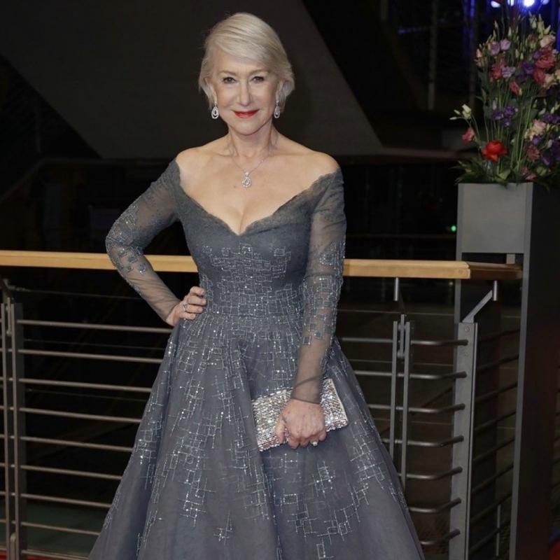 «Огонь-женщина»: Хелен Миррен выбрала на кинофестиваль платье с глубоким декольте - «Красота»