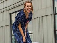 Ксения Собчак надела платье в горох за 125 тысяч рублей - «Я как Звезда»
